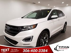 2017 Ford Edge Sport|AWD|Cam|Leather|Sunroof|Self Parking