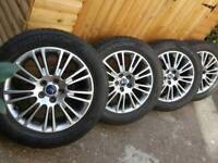 "17"" Ford alloys Mondeo kuga galaxy transit connect focus"