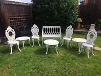 Cast iron Victorian garden set