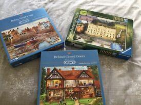 Three 1000 piece puzzles