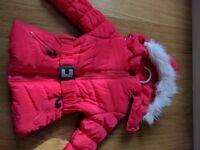 Baby girl winter coat size 1-2 years