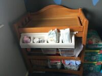 Mamas and Papas baby changing table with built in bath