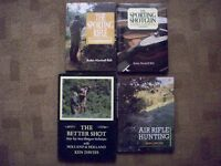 4 x Books on Shotgun / Rifle shooting & Field Sports in excellent condition