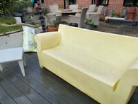 2 stylish Kartell Bubble sofas and table for sale
