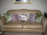 Wesley-Barrell Leather 3 piece suite & 2 Chairs