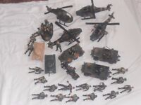 Toy soldiers and army vehicles