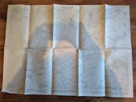 Vintage Large 1913 MAP of SOUTH EASTERN REIGATE DIVISION SURREY SHEET XXXIV.13