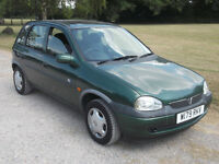 2000 VAUXHALL CORSA CLUB 16v 1.2 AUTO, MOT MARCH 2017, ONLY 82,000 MILES, ONLY £395