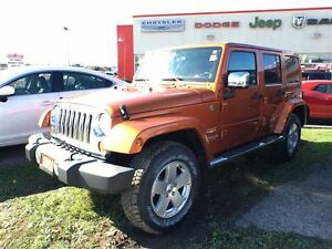 2011 Jeep WRANGLER UNLIMITED SAHARA**LEATHER**6.5 INCH TOUCHSCRE