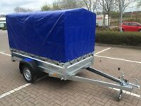Brand new Faro Tractus 2,36cm wood side 35cm car box trailer 750kg with 110 cm cover