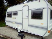 Coachman mirage 440/5 berth caravan 1995 cris regasted with document porch awning no damp