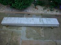Two 6 Foot x 1 Foot Concrete Gravel Boards