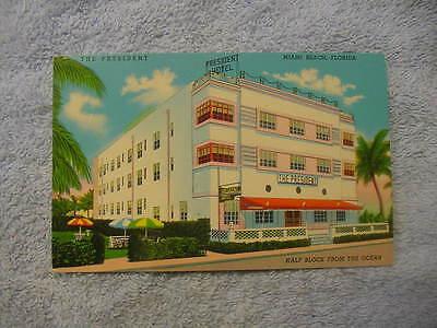 Miami Beach Florida The President Hotel Art Deco Architecture Postcard NEW