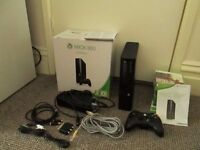 Xbox 360 with 9 games, controller and a full set of cables-Sold