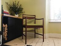 Vintage Retro Mid Century Solid Rosewood Office Chair Armchair by Tom Robertson for McIntosh