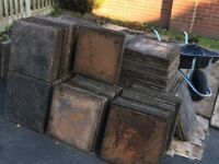 Reclaimed paving slabs