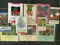 Selection of gardening books for sale