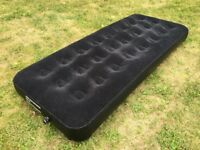 Camping Black Air Bed Mattress Single