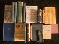 21 Rare Antiquarian & Collectible Books, Gay's Poems, Mein Kampf, Churchills Second World War, Bible