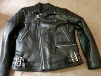 Clssic Black Leather Gallanto Motorbike