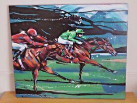 Superb genuine original painting 'Night Race' by Louise Mizen