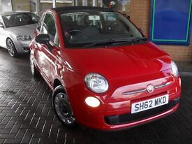 FIAT 500C 1.2 POP CONVERTIBLE RED WITH BLACK/RED TRIM