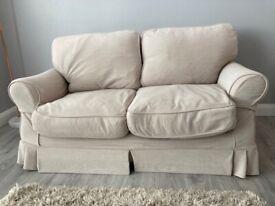 2 seater natural sofa