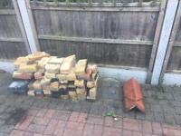 FREE - bricks and ridge tiles