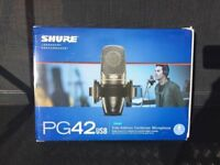 New Shure PG42 USB plug & play condenser microphone