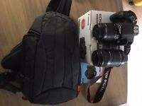 Canon EOS700D with 18-55 and 55-250 Lens and camera Bag