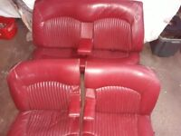 JAGUAR ORIGINAL 1960s S-TYPE ANTIQUE RED LEATHER SEATS READY TO FIT