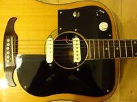 """Vintage Custom Dog, Fender Del Mar, Electro Acoustic Guitar"""