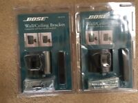 2 Brand New Bose Black wall ceiling brackets with fittings