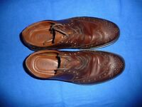 Almost New Mens Hotter Shoes - Brown - Lace-up - Size UK 8\EU 42