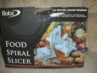 BABZ FOOD SPIRAL SLICER BNIB