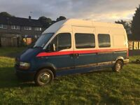 Diesel Renault lwb high top 4 berth Campervan (with 4 seats ) in good condition