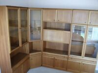 1980s Teak Display Cabinets