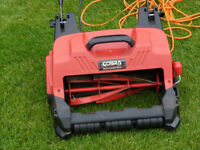 Cobra CM32E electric cylinder lawnmower.