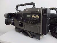 Vintage/retro SONY BVV-5PS 50P BETACAM SP video camera + ZOOM LENS PEGASUS III