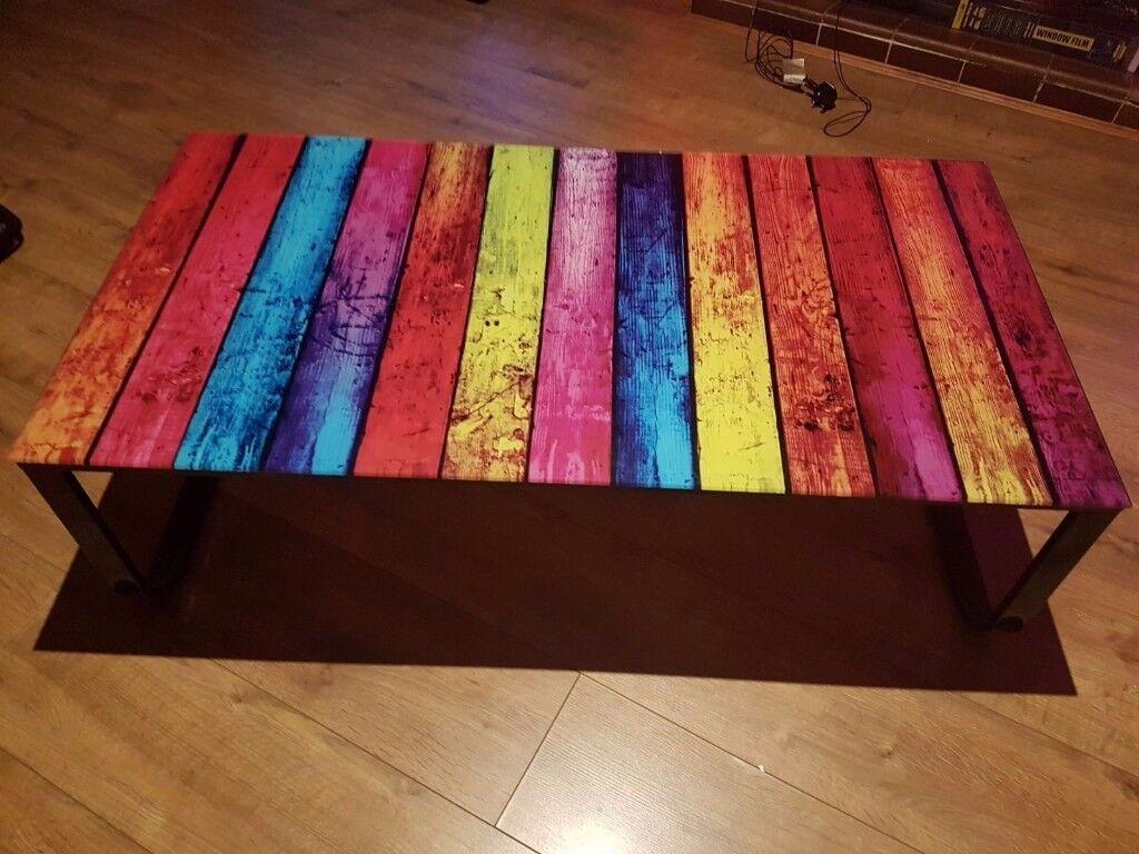 Rainbow coffee table - MUST GO ASAP