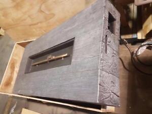 Sirio Foyer extérieur au propane ou gaz naturel imitation vieux bois