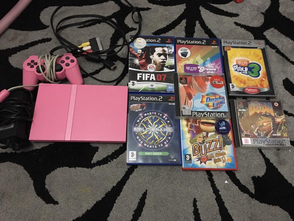 Rare limited edition pink slim ps2in Longbridge, West MidlandsGumtree - Comes with all leads one controller, and 7 games please see other items I have for sale thanks
