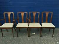 4 chairs including carvers