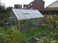 10 x 6 Greenhouse (toughened glass, vents, louvres....)