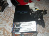 working playstation 2 with games