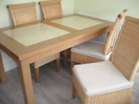 Substantial Kitchen Dining Table And 4 Chairs