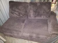 Dfs Brown left corner sofa with sofa bed