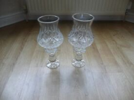 Lead Crystal Candle Lamps 12 inch tall