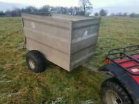 5x3 quad atv trailer for livestock logs stables farm etc