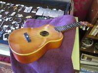 Ukulele. Vintage 1960's 'Lark' soprano ukulele. Solid spruce top, good original condition